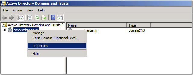 active directory trust relationship between two domains on one server
