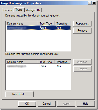 how to create trust relationship between two domains