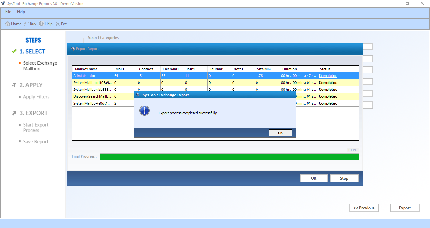Export Exchange Mailbox to PST From Live/Online with